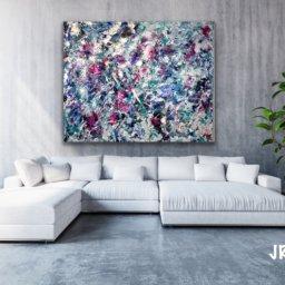 Ascendant - 5x6 Mixed Media, Acrylics on Canvas by Jennifer Rae Ochs